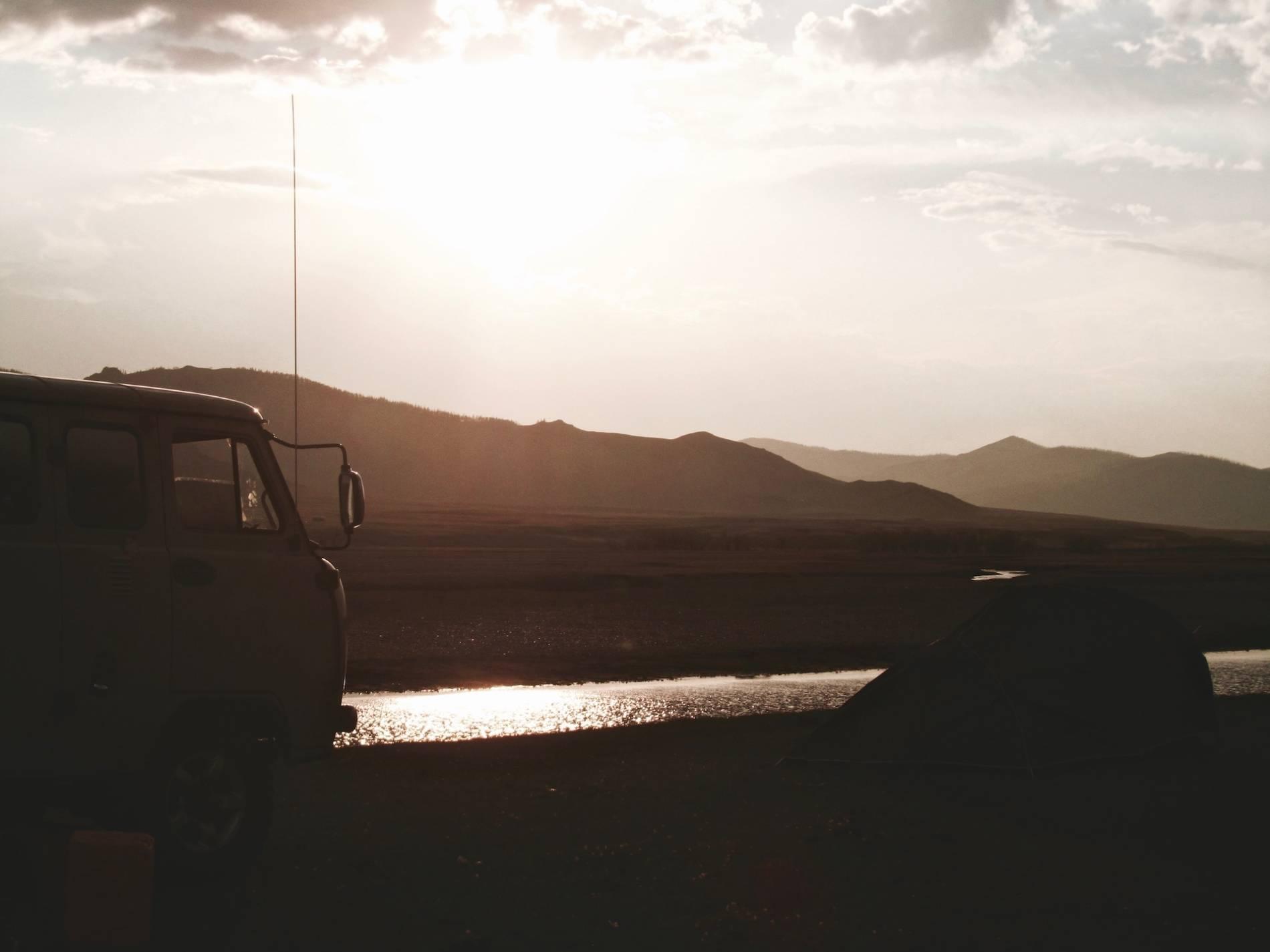 coucher du soleil mongolie