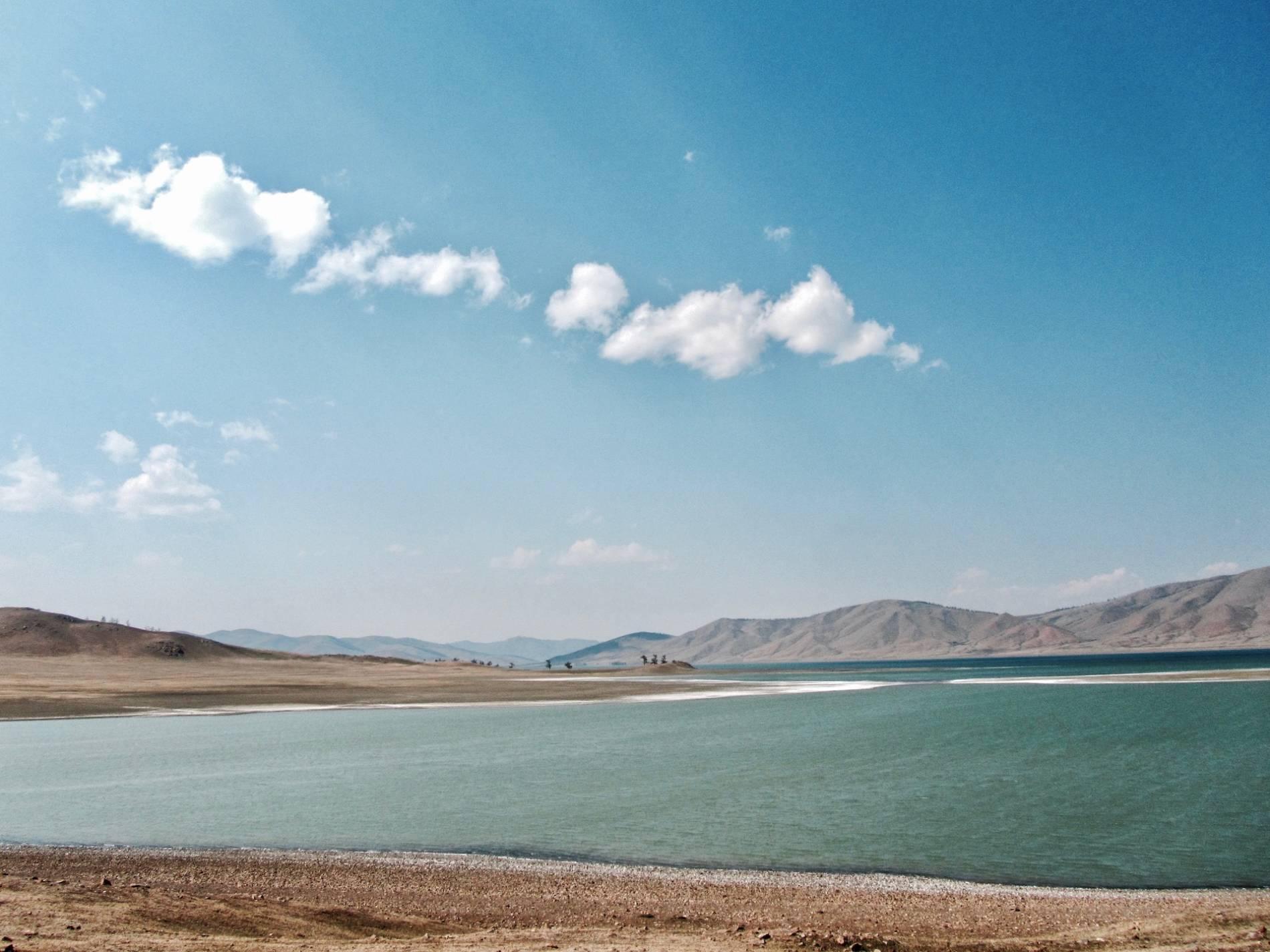 lac salé mongolie