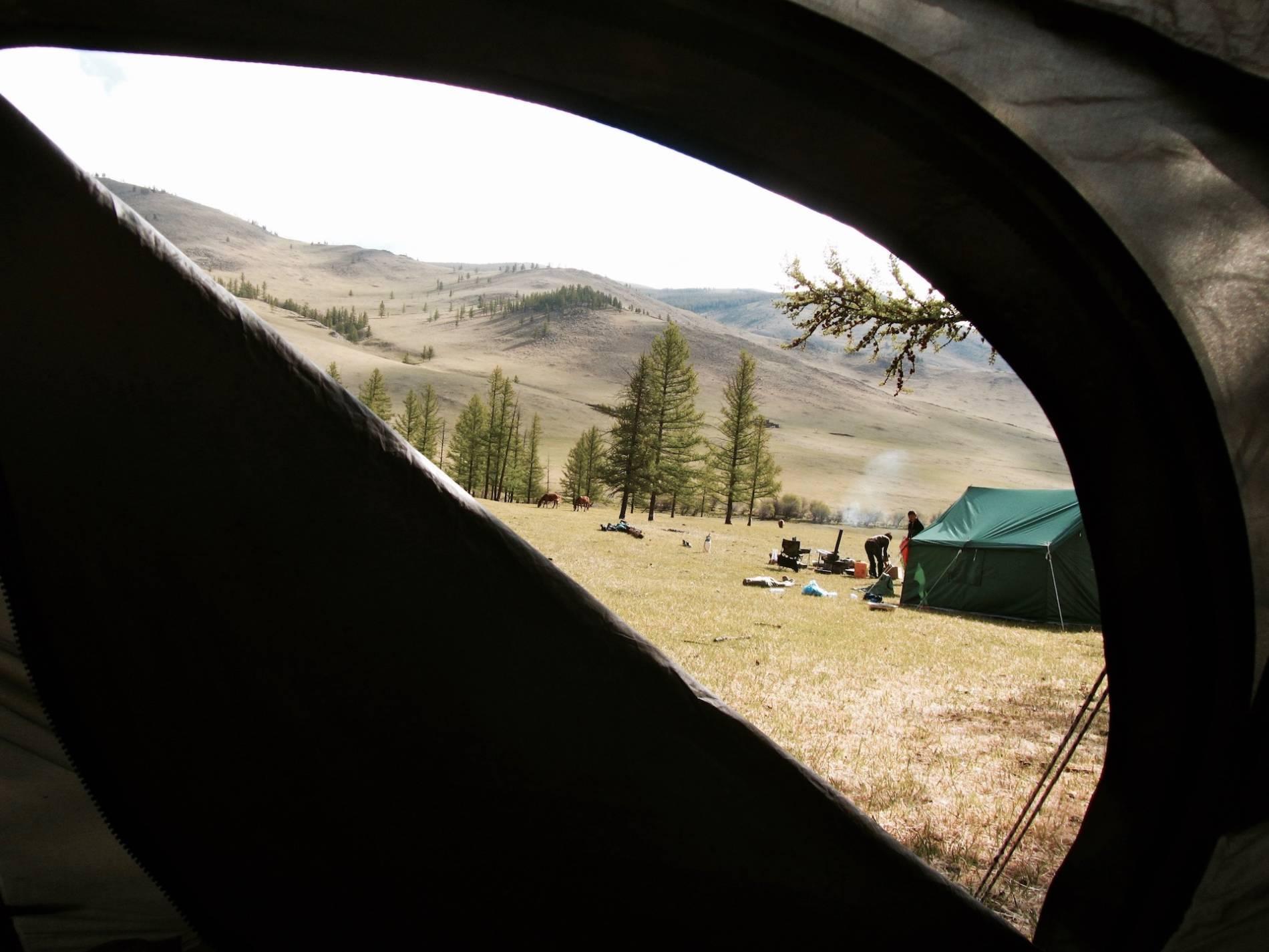 vue de ma tente