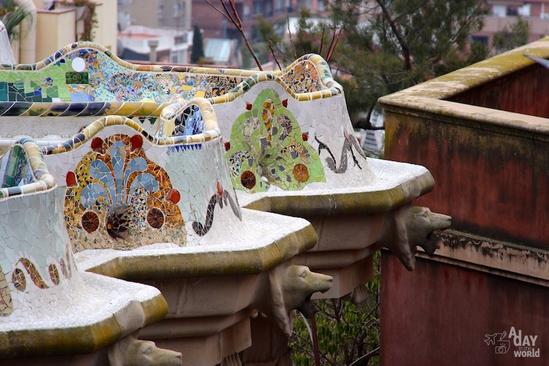 Parc Guell Barcelone Gaudi