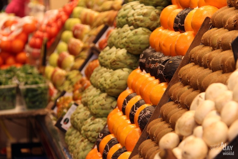 boqueria barcelone fruits