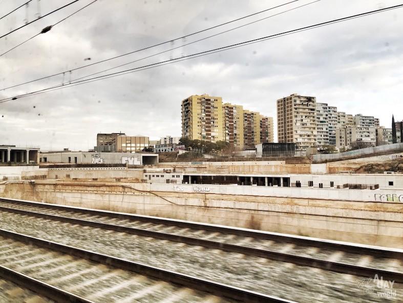 Barcelone en train
