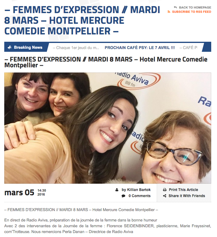 Article Radio Aviva Femmes d'expression