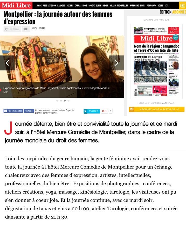 Article Vie de Femme Midi Libre