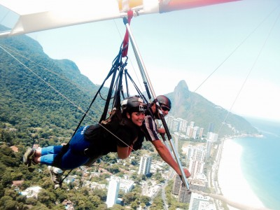 Deltaplane au dessus de Rio de Janeiro – Brésil