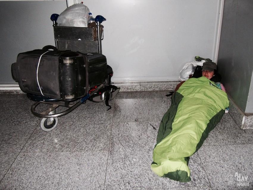 dormir à l'aéroport inde