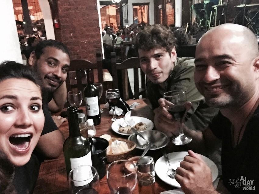 amigos en El Cafayate Argentine
