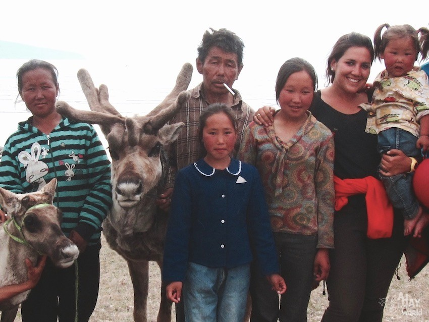 Famille cerf mongolie