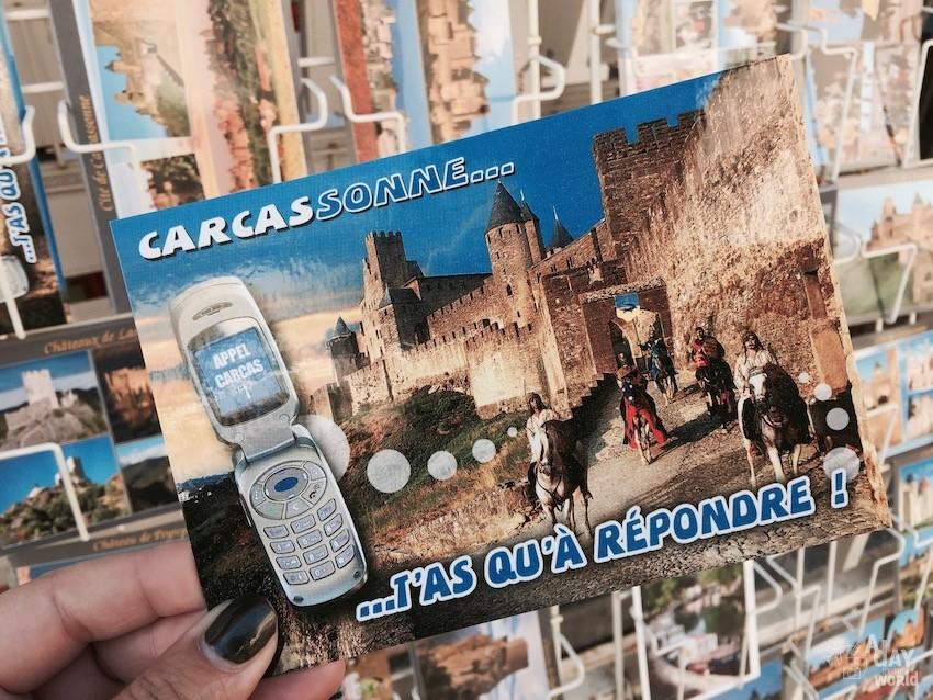 carte postale carcassonne