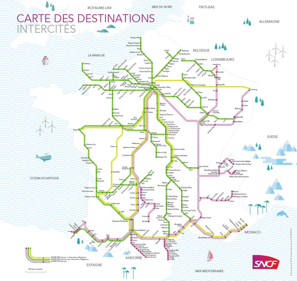 sncf intercite carte reseau