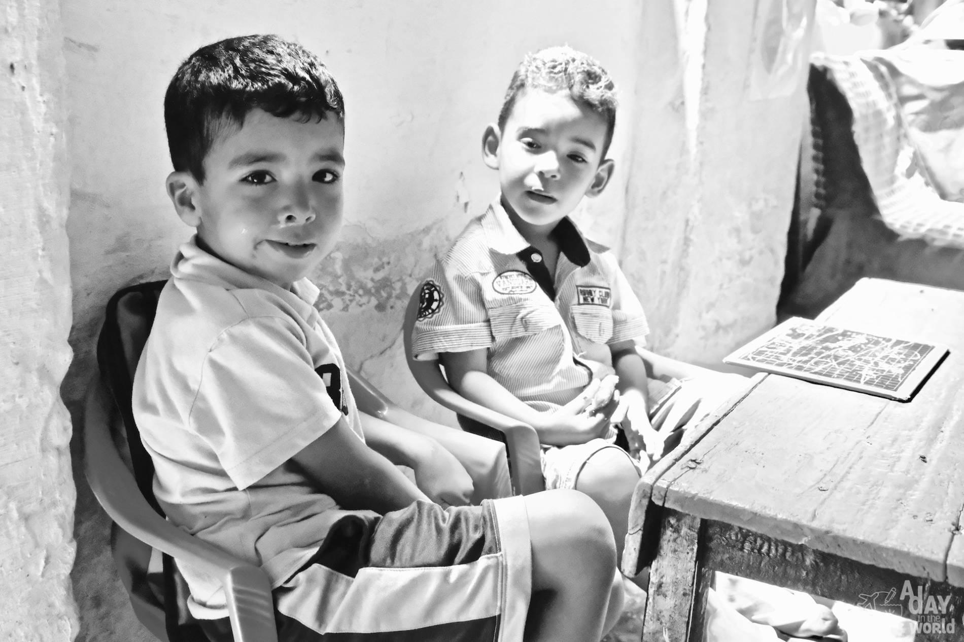 élèves école maroc