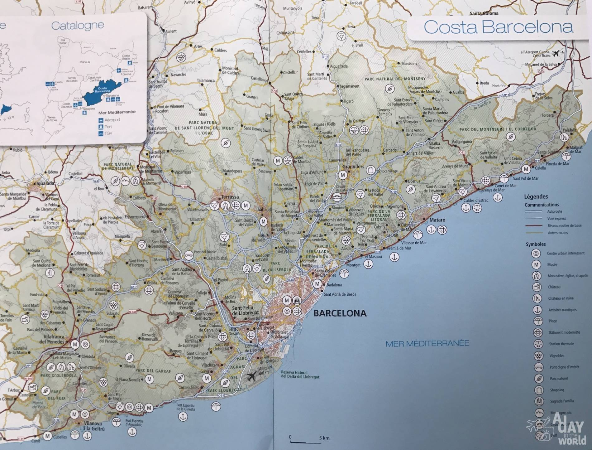 Carte Barcelone Vacances.Costa Barcelona Entre Mer Et Montagne A Day In The World