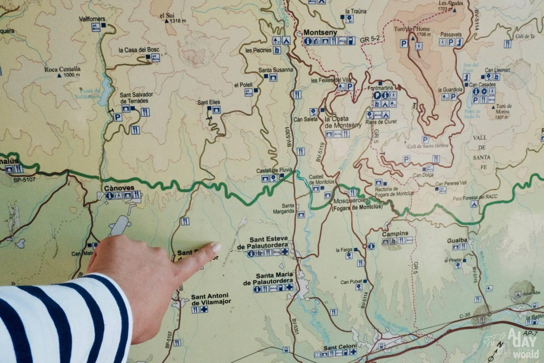 carte parc montseny