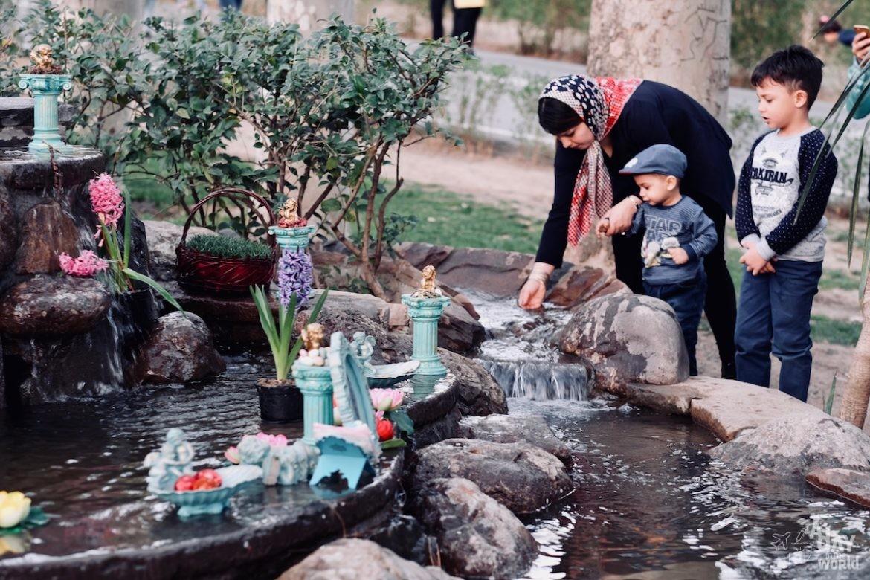 Palais Sa'dabad-fontaine-iran