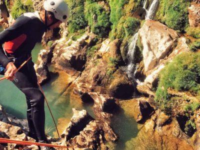 Canyoning dans les gorges de l'Hérault